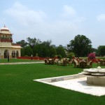 The luxurious Rambagh Palace Hotel